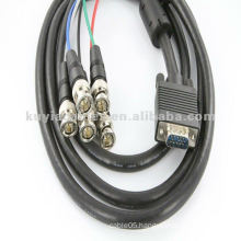 6' HD15 Coax HD15 VGA to 5 BNC RGBHV Cable